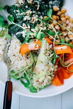 Sara's amazing tahini dressing + a healthy bowl // www.thefirstmess.com