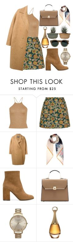 """🐿"" by burcaak ❤ liked on Polyvore featuring Motel, Rochas, Valentino, L'Autre Chose, Topshop, Christian Dior, Cutler and Gross, StreetStyle and scarf"