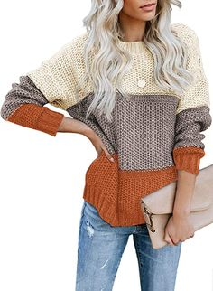 Winter Sweaters, Long Sweaters, Pullover Sweaters, Sweaters For Women, Chunky Sweaters, Trendy Clothing Websites, Sweater Fashion, Long Sleeve Sweater, Clothes For Women