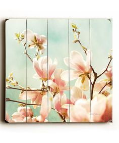 Look at this Magnolia Sky Wood Wall Art on #zulily today!