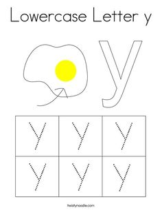 Lowercase Letter y Coloring Page - Twisty Noodle Letter Y Worksheets, Kids Prints, Cursive, Lower Case Letters, Mini Books, Lowercase A, Noodle, Coloring Pages, Homeschool