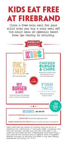 Our kids eat free offer is back!