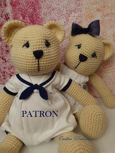 Tomy y Nana, Patrón Amigurumi en PDF # Osito Amigurumi # Amigurumis # Bear Pattern #Amigurumi Pattern # osito a crochet # Me encontrarás en: www.etsy.com/es/listing/181207886/tomiy-y-nana-patron-amigurumi-en-pdf?ref=listing-shop-header-2 Y en: ositosdulcess@gmail.com