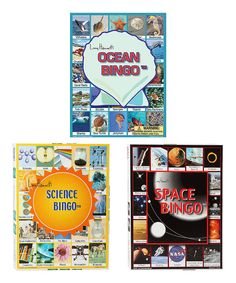 Look at this Ocean, Science & Space Bingo Game Set on #zulily today!