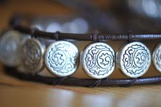By LaceCharming Silver Plated Bead and Leather Woven Bracelet Leather Woven Bracelet Stackable Woven Leather and Silver Plated Woven Bracelet Boho Bracelet by LaceCharming on Etsy