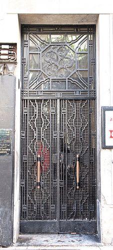 Wrought Iron Art Deco Door, Casablanca
