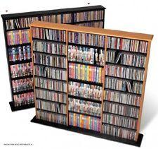 Black Triple Width DVD CD Blu-Ray Video Music Movie Wall Storage