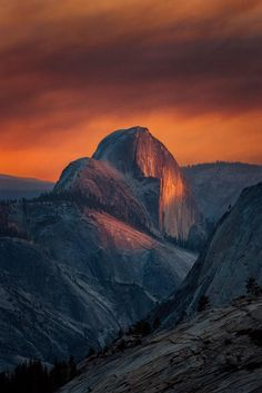 #Sunset is amazing @YosemiteNPS. Half Dome by Aron Cooperman #California