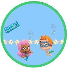 "Kit de Aniversário ""Bubble Guppies"" - Cone para Guloseimas, Rótulos, Convites, etc... - Convites Digitais Simples"