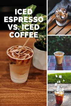 Have you been to your favorite coffee shop recently and noticed a new type of cold coffee you've never tried before? I had a chance to try an iced espresso instead of an iced coffee for the first time and want to tell you about the differences. #coffee #espresso Cold Coffee Drinks, Fresh Coffee, Hot Coffee, Iced Coffee, Coffee Shop, Coffee Cream, Coffee Type, Black Coffee, Types Of Coffee Beans