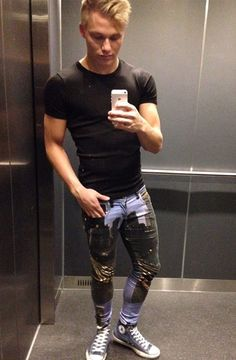 Not male jeans wet spot never