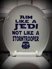 Star Wars Inspired Bathroom Home Decor: Toilet Decal~Aim Like a Jedi