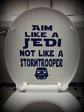 Star Wars Inspired Bathroom Home Decor: Toilet Decal~Aim Like a Jedi