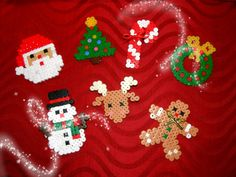 Christmas ornaments hama beads by Chicle Sin Azúcar