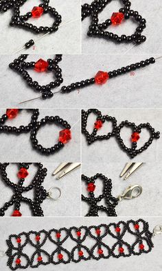 Like this seed beads heart bracelet pattern?The tutorial will be shared by LC.Pandahall.com soon.