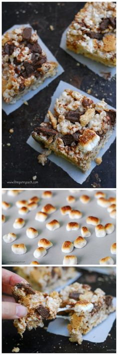 S'mores Rice Krispies are like having two of your favorite treats in one bar!