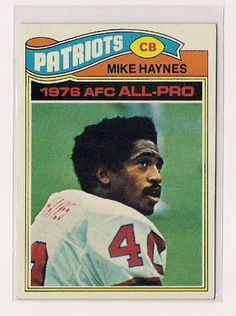 1977 Topps #50 Mike Haynes Rookie Football Card by Topps. $10.99. Quickly and securely shipped in a toploader, soft sleeve and bubble envelope.