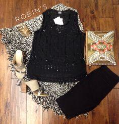 #shoprobins #boutique #fall #poncho #beaded #bigbuhdda #skinnies