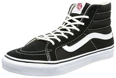 aa521016a5ddca Vans Unisex Slim Black True White Skate Shoe 7 Men US   Women US  This shoe  is so rad that it was brought back to life from the past so that you can ...