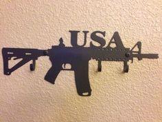 USA AR Assault Rifle Key Holder Hook Metal New