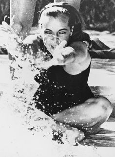 "Romy Schneider in ""La Piscine"", by Jacques Deray, 1968"