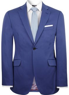 Contemporary Fit Blue Cotton Jacket - Contemporary Fit (Chelsea) - Austin Reed