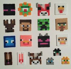 These are perler bead creations from Minecraft! The sprites pictured here are roughly 1.5 inches by 1.5 inches in size. Buy in sets of (3) or