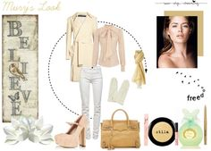 """""""@Elena Murillo - creamy style"""" by murihel85 ❤ liked on Polyvore"""
