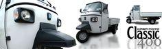 """Die neue Piaggio Ape Classic 400 in den Farben """"Artic White"""" und """"Charming Blue"""" vorraussichtlich ab Juli. #Piaggioape #Piaggio #Ape #Classic #Classic400 #400"""