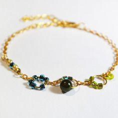 Bracelet couleur vert/bleu
