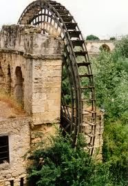 Romans created practical science inventions to make life easier. In this picture is a water wheel in the city of Cordoba, Spain. Cordoba was occupied by the Romans during the Roman Empire era. 206 BC