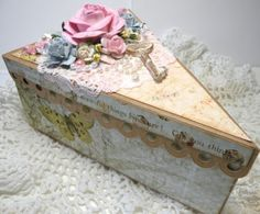 I love this altered box - so shabby!
