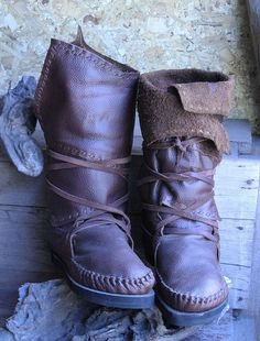 Handmade Leather Boots by MyLeatherGoods on Etsy, $149.00
