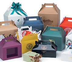 Colored Gable Boxes for take out or gifts WITH foil stamping!! #reference