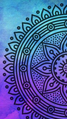 Wallpaper Iphone Cute, Cute Wallpapers, Wallpaper Backgrounds, Mandala Drawing, Colorful Drawings, Easy Drawings, Pencil Drawings Tumblr, Dibujos Zentangle Art, Phone Backgrounds