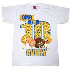 Emoji Movie Omg Birthday Shirt Any Age Boy Or Girl