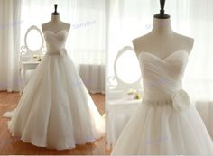 Ball Gown Sweetheart Wedding Dress/ Simple Wedding by SinnyBox, $229.99