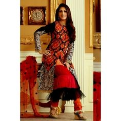 Black Faux Silk Salwar kameez with Embroidery and Patch work