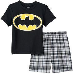 Toddler Boy DC Comics Batman Tee & Shorts Set