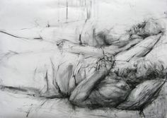 By Ginny Grayson. Rest, 2009. Charcoal on paper. 78 x 112 cm