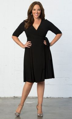 Check out the deal on Essential Wrap Dress at Kiyonna Clothing