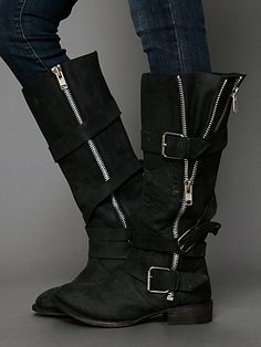 """Marlo Zip Buckle Boot 