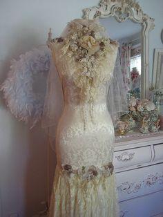 Vintage Bride Dress Form by mylulabelles, via Flickr