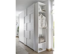 Armoire design damier gris et blanc NATHEO 4 Armoire Design, Tall Cabinet Storage, Locker Storage, Damier, Lockers, Bedrooms, Furniture, Home Decor, Products