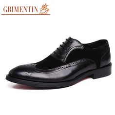 Find More Men's Flats Information about GRIMENTIN Fashion Vintage Men Shoes Genuine Leather Handmade Luxury Suede Patchwork Wingtip Carved Classic Oxford Shoes For Male,High Quality classic oxford shoes,China oxford shoes Suppliers, Cheap vintage mens shoes from Men Style Dress on Aliexpress.com