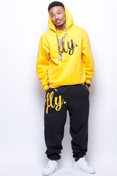 FLY. Gold/Black Sweatsuit