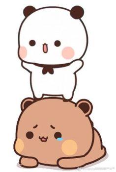 Cute Anime Cat, Cute Bunny Cartoon, Cute Cartoon Pictures, Cute Love Cartoons, Cute Images, Cute Bear Drawings, Cute Couple Drawings, Art Drawings For Kids, Cute Teddy Bear Pics