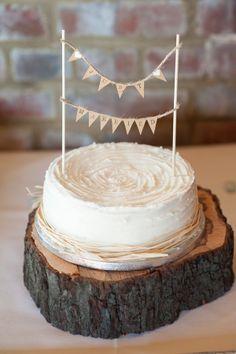 bunting cake topper DIY Lillibrooke Manor Wedding http://fionasweddingphotography.co.uk/