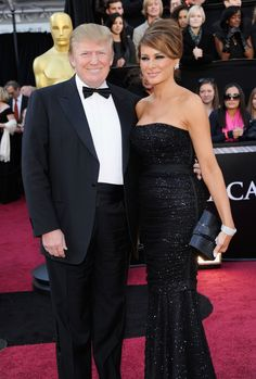 Donald Trump (L) and wife Melania Trump arrive at the 83rd Annual Academy Awards held at the Kodak Theatre on February 27, 2011 in Hollywood, California. via @AOL_Lifestyle Read more: http://www.aol.com/article/news/2016/11/11/white-house-releases-photo-of-michelle-obama-and-melania-trump-m/21603833/?a_dgi=aolshare_pinterest#fullscreen
