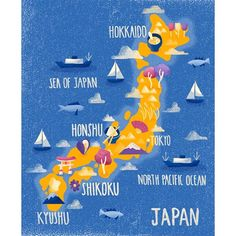 """@bethwalrond: """"Finished Map of Japan on my site now. An illustration."""